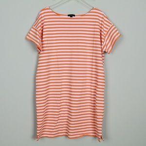 J Crew S/S Striped Cotton Shift Dress Tunic Large